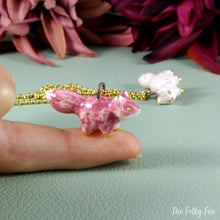Load image into Gallery viewer, Pink Fox Necklace in Ceramic - The Folky Fox