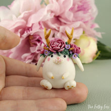 Load image into Gallery viewer, Bunny Sculpture in Polymer Clay 6 - The Folky Fox