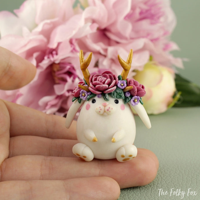 Bunny Sculpture in Polymer Clay 6 - The Folky Fox