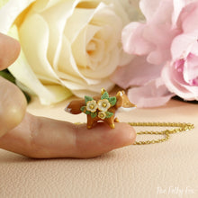Load image into Gallery viewer, Floral Fox Necklace in Polymer Clay 1 - The Folky Fox