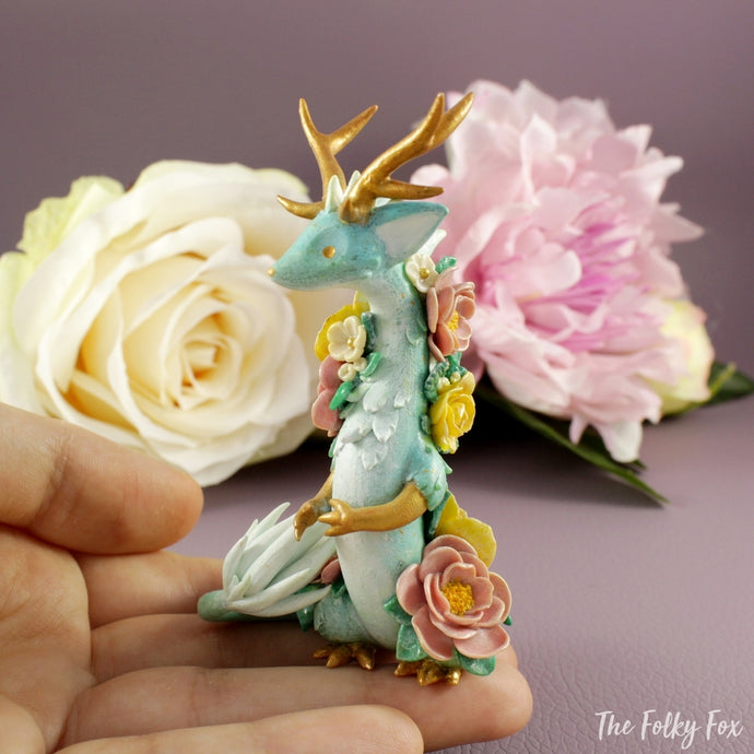 Spring Dragon in Polymer Clay - The Folky Fox