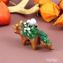 Load image into Gallery viewer, Mushroom Fox Sculpture in Polymer Clay - The Folky Fox