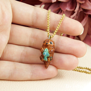 Otter Necklace in Ceramic - The Folky Fox