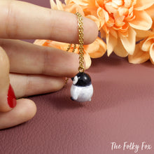 Load image into Gallery viewer, Penguin Necklace in Polymer Clay - The Folky Fox
