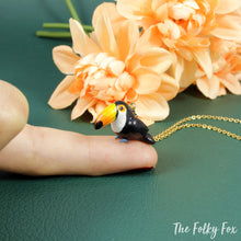 Load image into Gallery viewer, Toucan Necklace in Polymer Clay - The Folky Fox