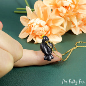Toucan Necklace in Polymer Clay - The Folky Fox
