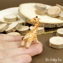 Load image into Gallery viewer, Giraffe Necklace in Polymer Clay - The Folky Fox