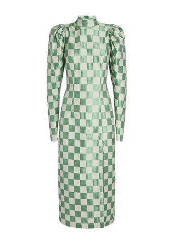 rotate green checked dress