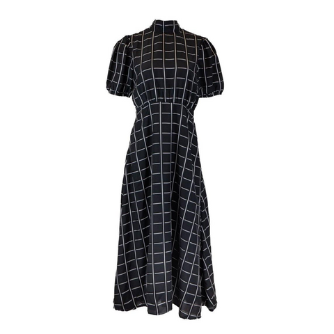 ghospell dress rent hire black check