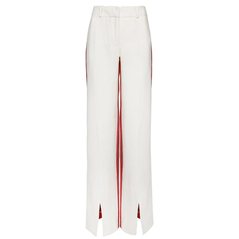 suit trousers red and white