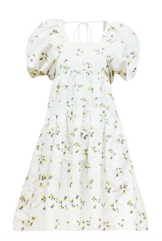 cecilie bahnsen floral dress rent white yellow