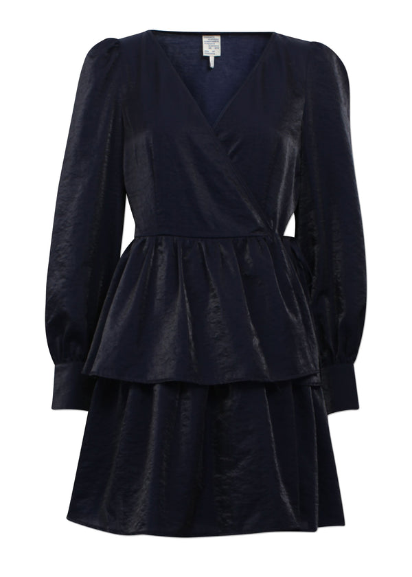 Rent Baum Und Pferdgarten Akeisha Blue Mini Wrap Dress from Rotaro