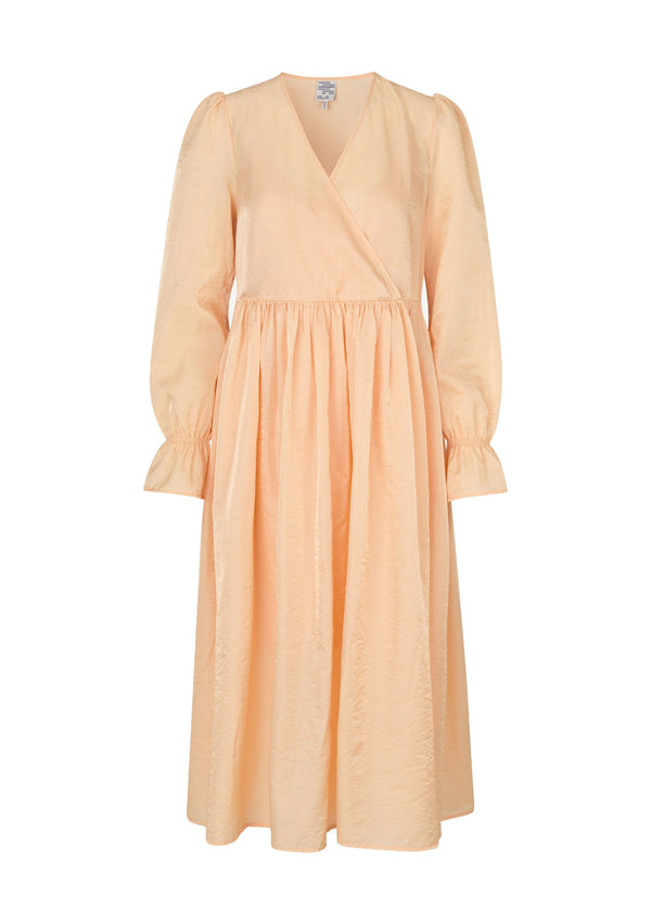 Rent Baum Und Pferdgarten Sherbet Peach Wrap Midi Dress from Rotaro