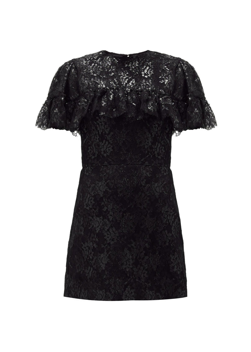 Rent The Vampires Wife Black Metallic Ruffle Lady Kristina Liberty Mini Dress from Rotaro