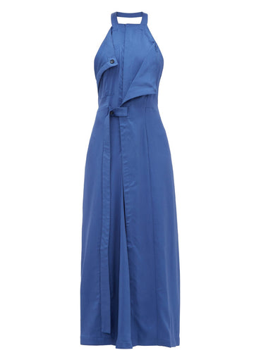 Rent Jacquemus Marco Blue Draped Open Back Twill Midi Dress from Rotaro