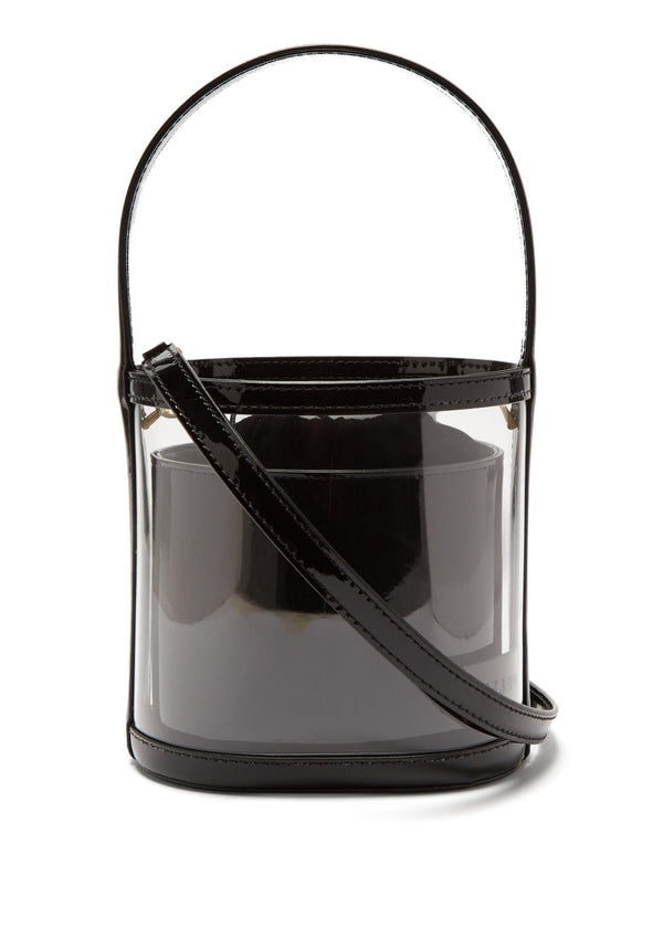 Rent Staud Bisset Leather and PVC Bucket Bag from Rotaro