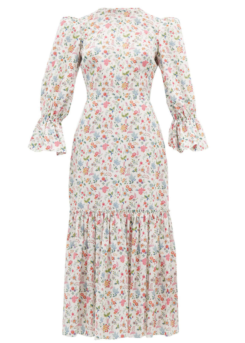 Rent The Vampires Wife Floral Print Cotton Midi Dress from Rotaro