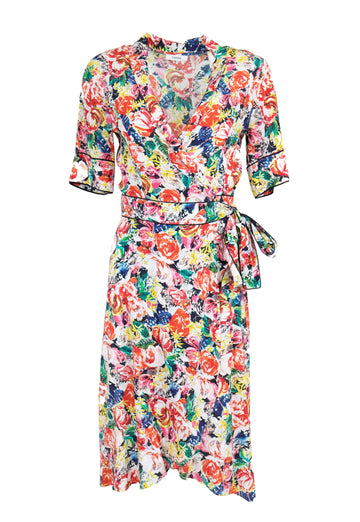 Rent GANNI Floral Print Wrap Dress from Rotaro
