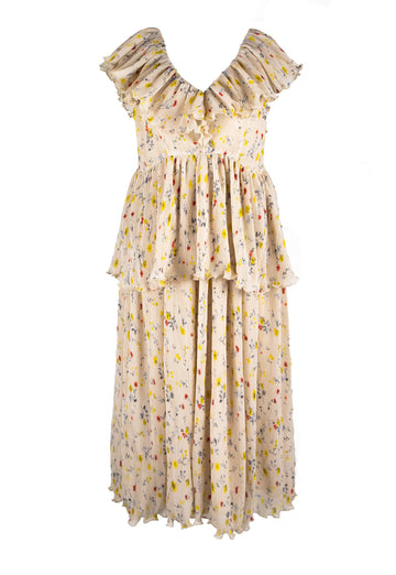 Rent GANNI Floral Ruffle Dress from Rotaro