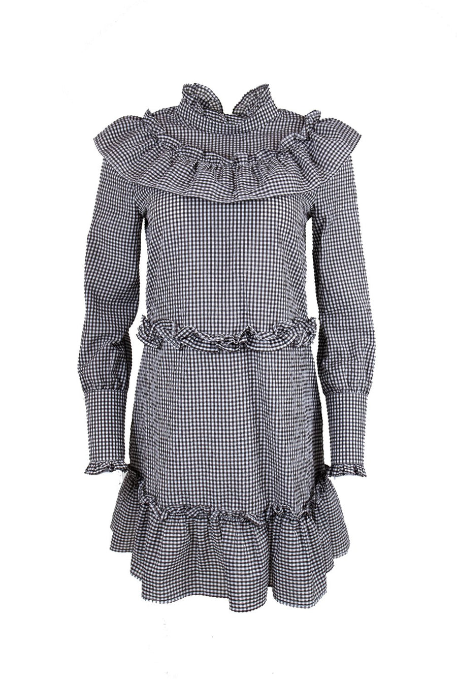 Rent GANNI Gingham Mini Dress from Rotaro