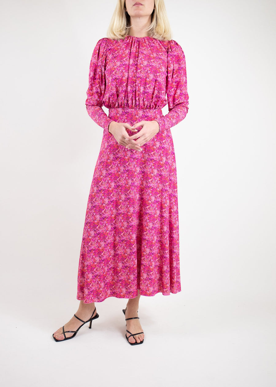 Rent ROTATE Birger Christensen Backless Floral Print Midi Dress from Rotaro