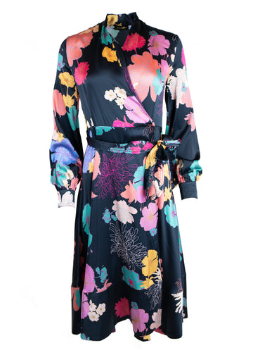 Rent Stine Goya Floral Silk Wrap Midi Dress from Rotaro