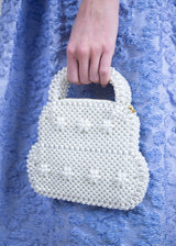 Rent Shrimps White Pearl Small Tote Bag from Rotaro