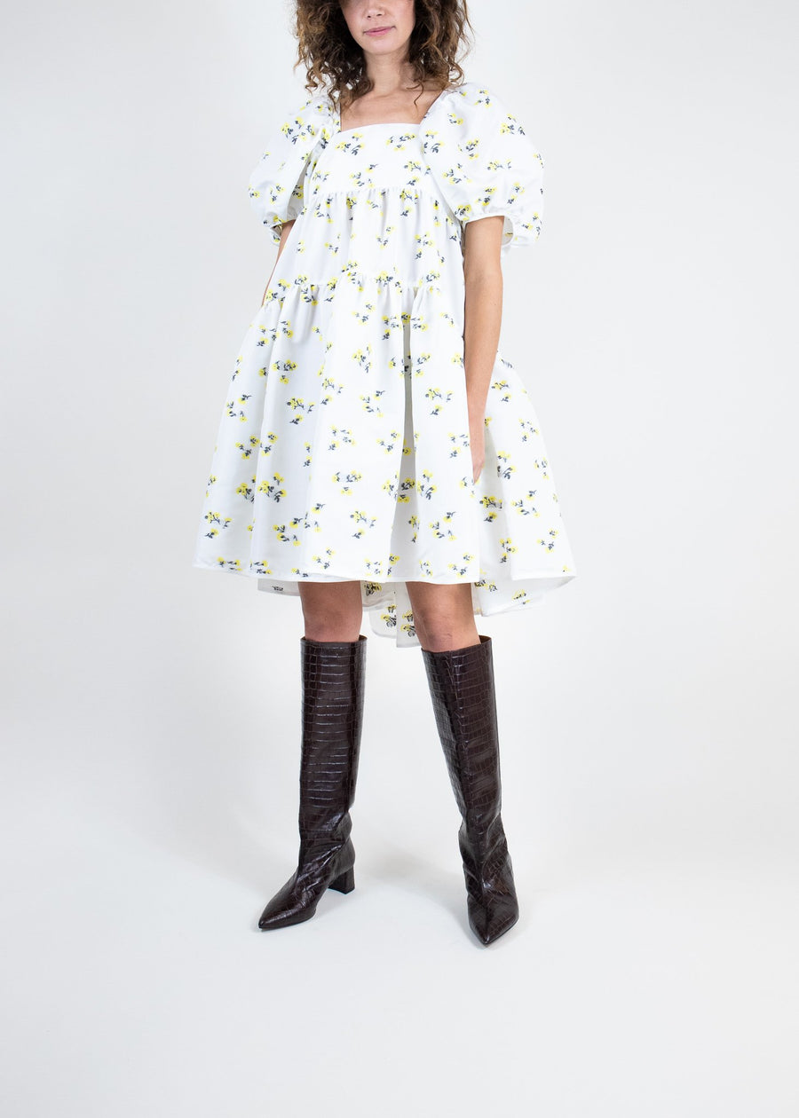 Rent Cecilie Bahnsen Floral Prairie Tie-Back Mini Dress from Rotaro