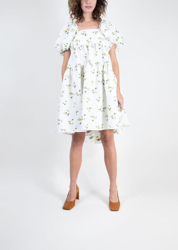 Rent Cecilie Bahnsen Floral Tie-Back Mini Dress from Rotaro