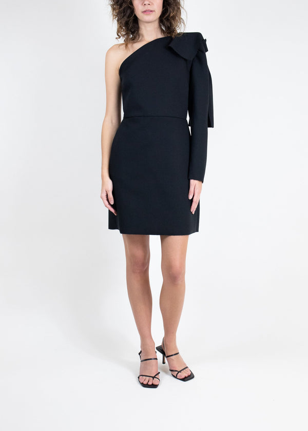 Rent MSGM Black One Shoulder Mini Dress from Rotaro