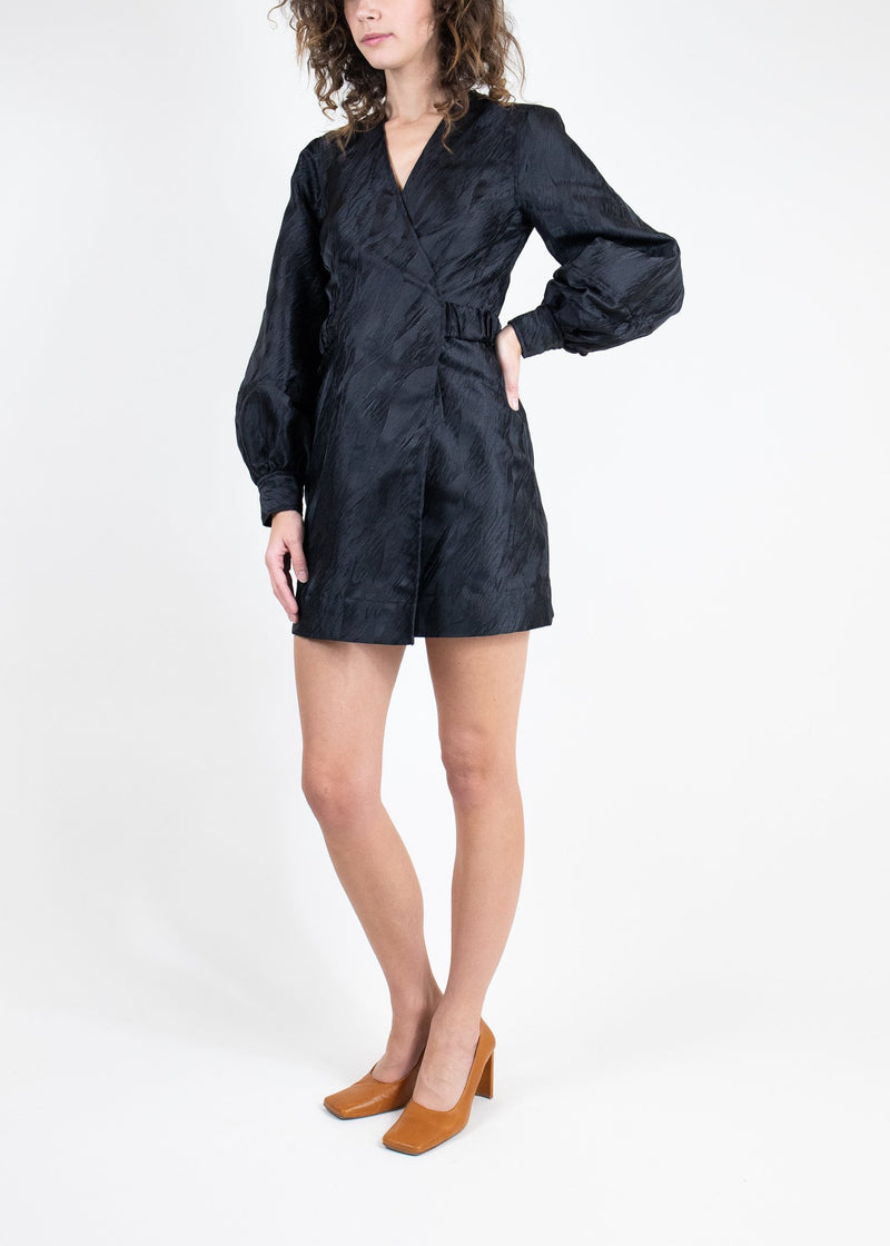 Rent GANNI Black Jacquard Mini Dress from Rotaro