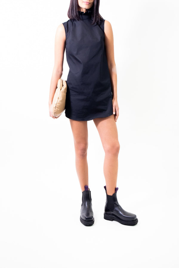Rent Cecilie Bahnsen Black Ruffled Cotton Mini Dress from Rotaro