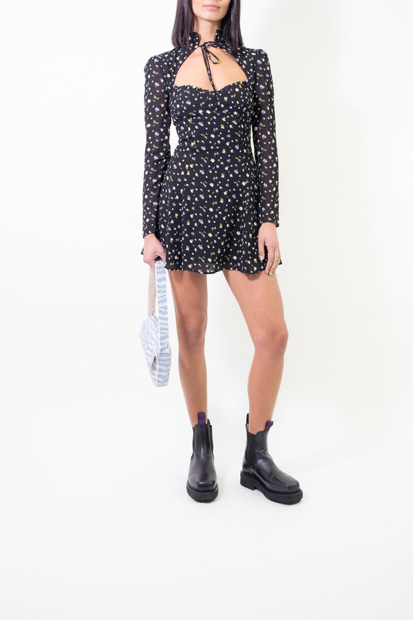 Rent Reformation Floral Print Vivianne Mini Dress from Rotaro