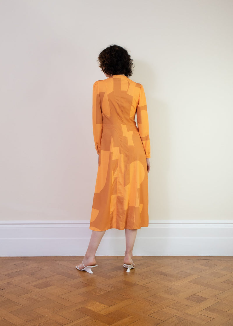 Rent House of Sunny Cinema Midi Dress in Amber from Rotaro