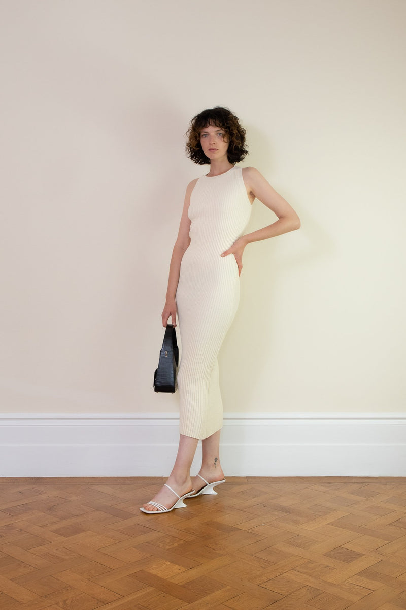 Rent The Line By K Anais Open-Back Ribbed Knit Midi Dress from Rotaro