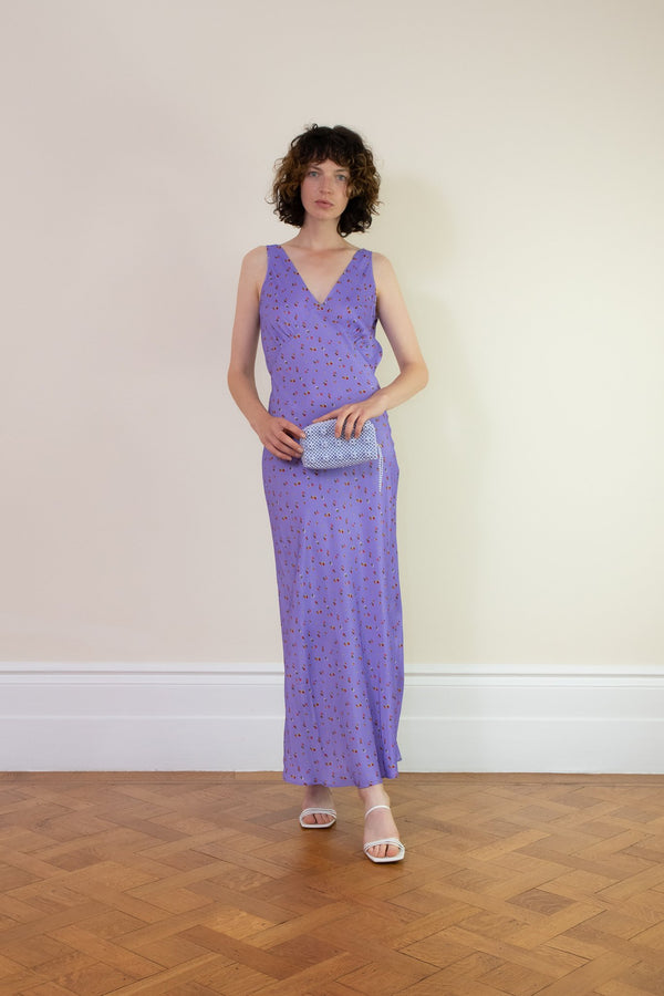 Rent Rat & Boa Violeta V-Neck Lilac Maxi Dress from Rotaro