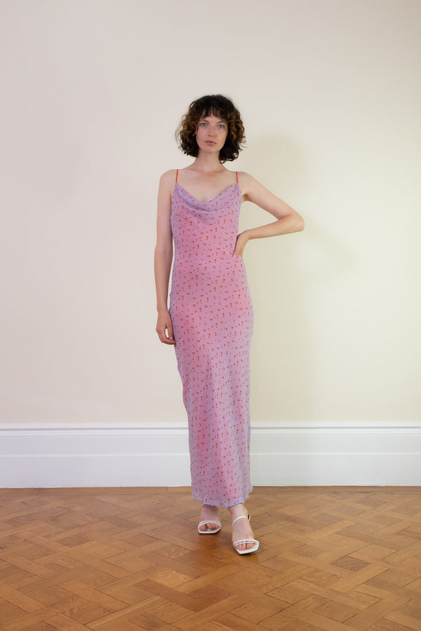 Rent Rat & Boa Simona Floral Lilac Maxi Dress from Rotaro