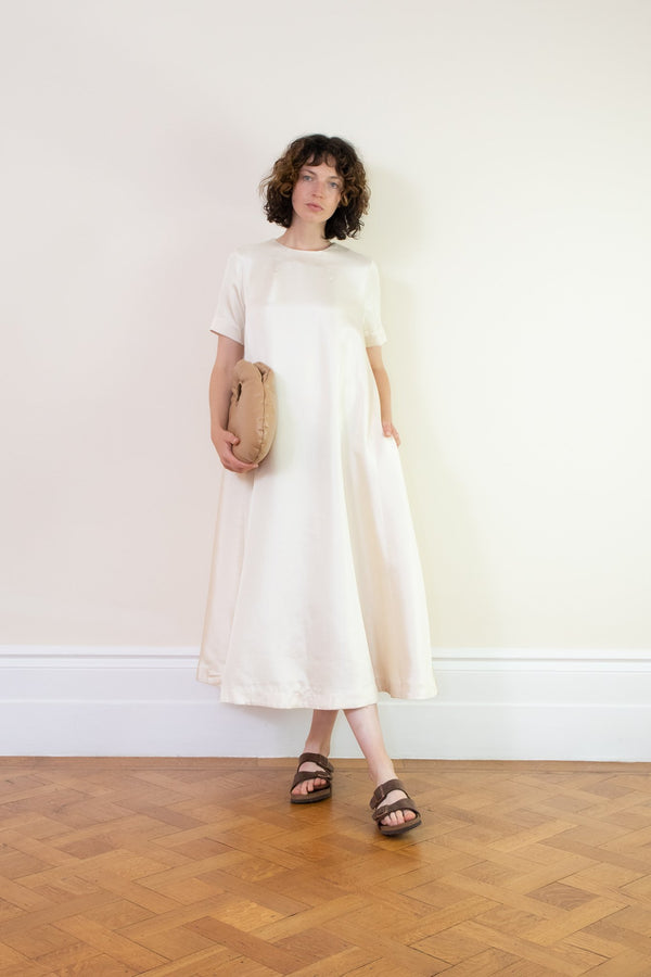 Rent Baum Und Pferdgarten Alula Cream Midi Dress from Rotaro