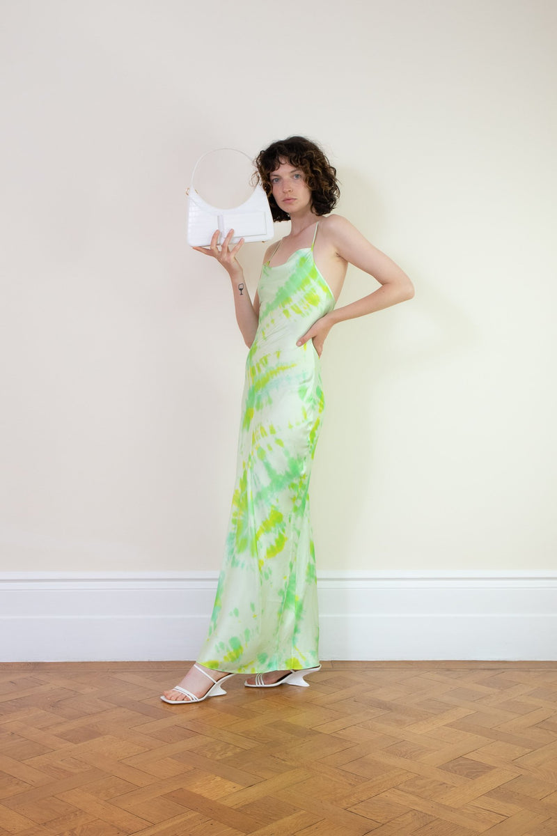 Rent Rat & Boa Green Juniper Tie Dye Maxi Dress from Rotaro