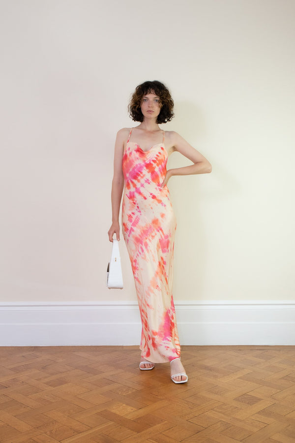 Rent Rat & Boa Pink Ariel Tie Dye Maxi Dress from Rotaro