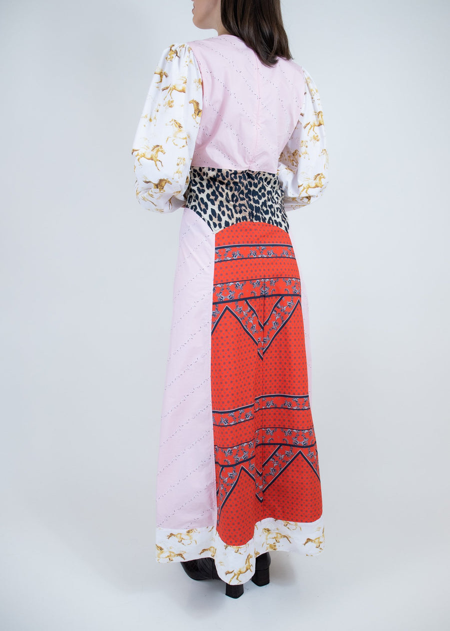 Rent GANNI Cotton Poplin Printed Maxi Dress from Rotaro