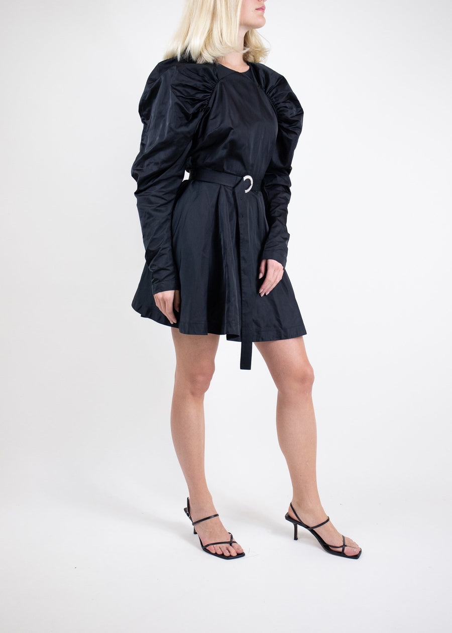 Rent ROTATE Birger Christensen Puff-Sleeve Belted Mini Dress from Rotaro