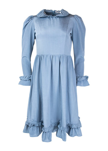 Rent Batsheva Blue Midi Prairie Dress from Rotaro