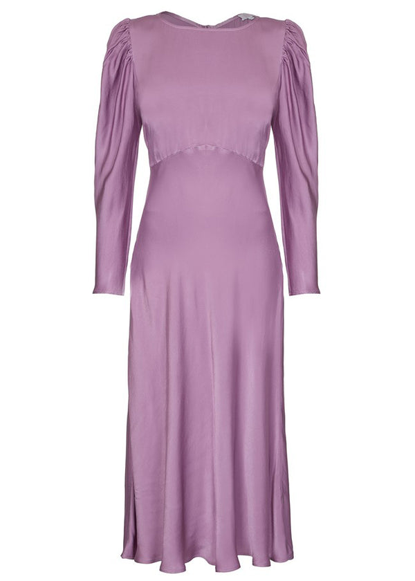 Rent Ghost Lavender Long Sleeve Midi Dress from Rotaro