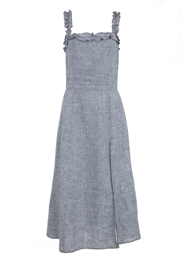 Rent Reformation Grey Linen Dress from Rotaro