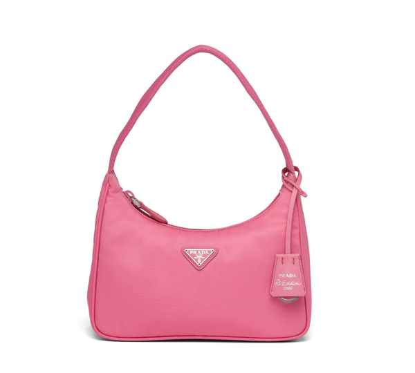 Rent Prada Bags Pink Nylon Mini Bag from Rotaro