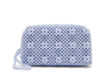 Rent Shrimps Blue Beaded Clutch Bag from Rotaro