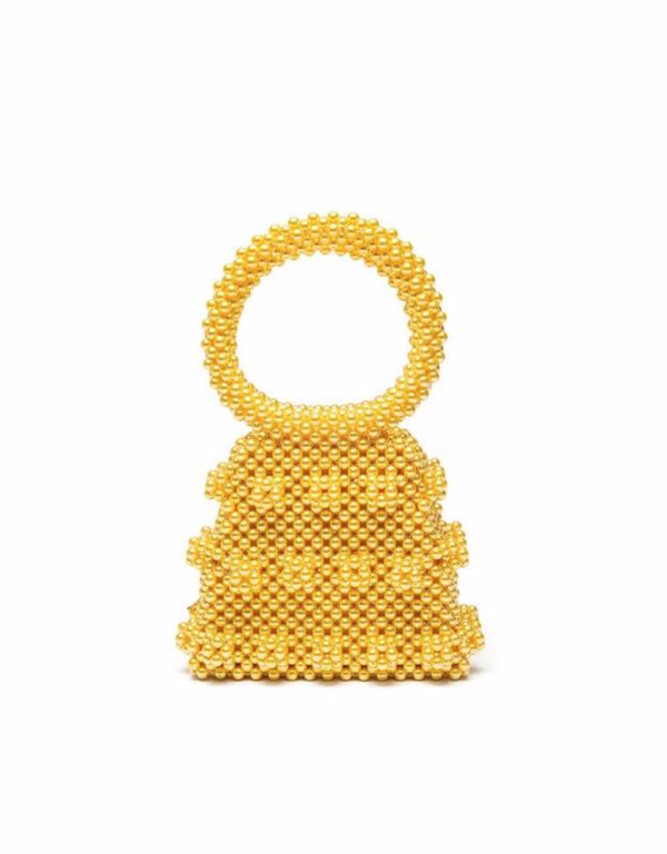 Rent Shrimps Yellow Beaded Mini Bag from Rotaro