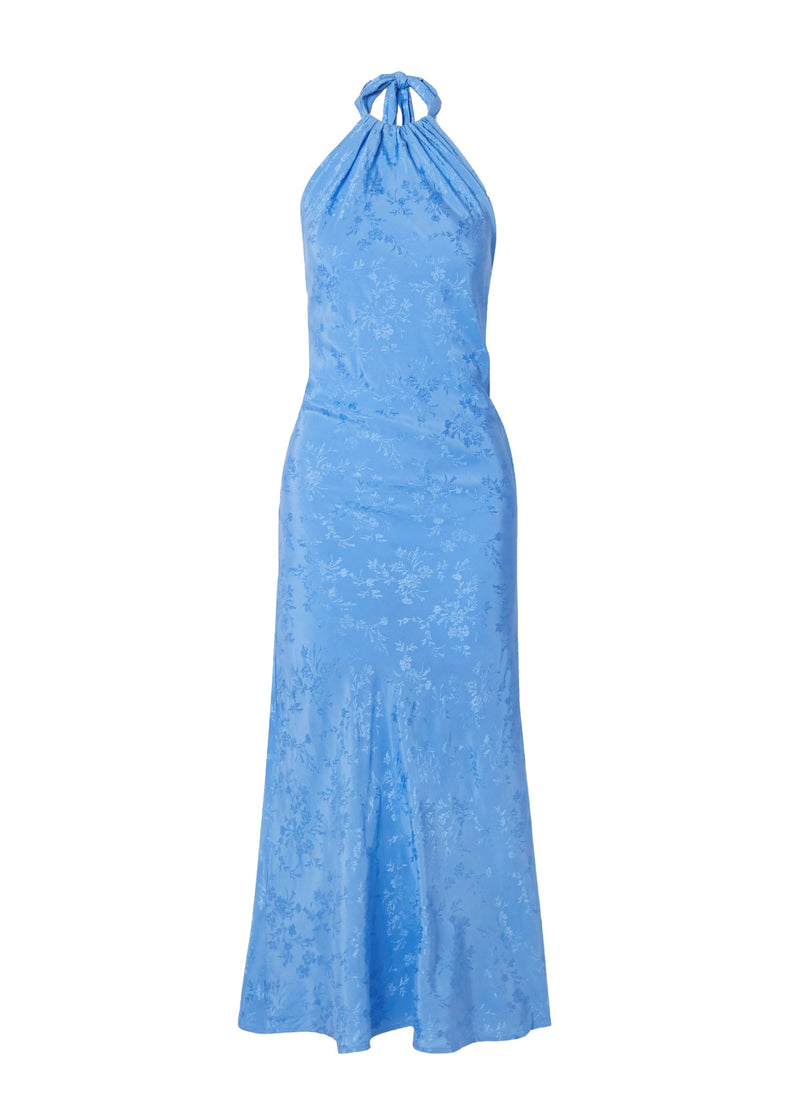 Rent The Line By K Belle Blue Floral Halter Neck Dress from Rotaro