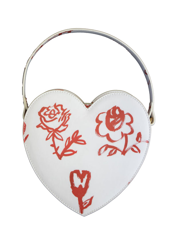 Rent Shrimps White Heart Rose Bag from Rotaro